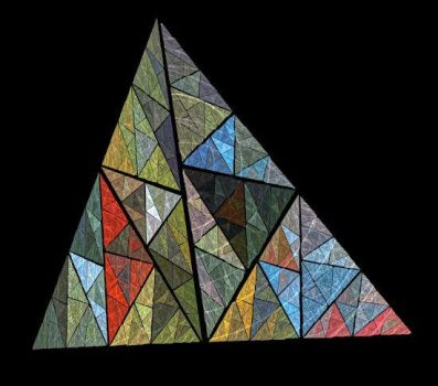 Mosaic Triangle by FractalRock