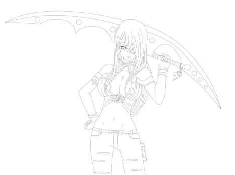 Erza Adventure-line by X-Ray99