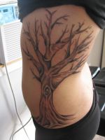 freehand tree tattoo by dannewsome