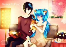 Happy B-Day Kimani! [Entry Contest] by AKANE-ICHII-KITSUNE