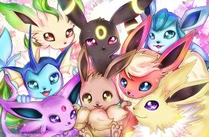 Eeveelution by Geegeet