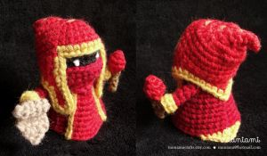 Amigurumi Minion Red by natalianinomiya