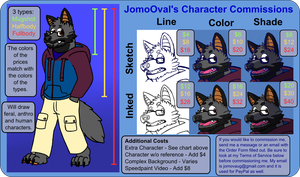 Character Commission Prices [OPEN] by JomoOval
