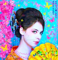 Portrait of Geisha by Docali
