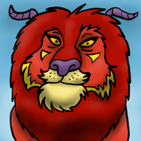 A Horned Chinese Dragon-Lion-Demon-Thing by MaeraFey