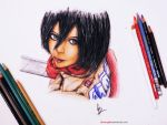 Mikasa Ackerman - Attack on titan by cbmangaka
