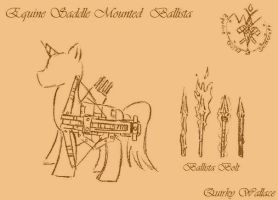WTWE Weapon Designs: Saddle Mounted Ballista by QuirkyWallace