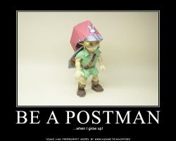 Link wants to be a postman by ninjatoespapercraft