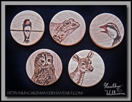 Wild life Pyrography by Munchkinmay