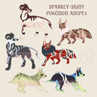 Sparkly-Shiny Pokemon Adopts I [CLOSED] by PaintedCricket