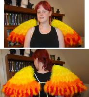 Gijinka Moltres wings by Yamiemma