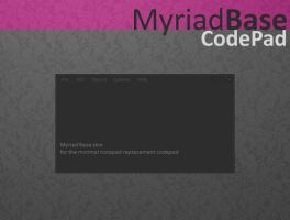 Myriad Base Codepad by AlbinoAsian