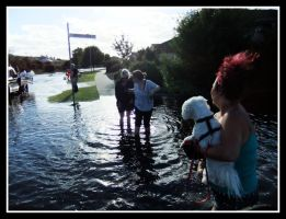 Only Way Through Flood 2011 by angelfunkstudio