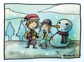 with mr snow man by yen-wen-hsieh