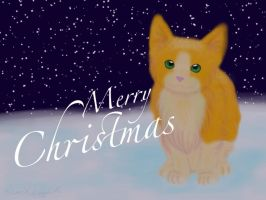 Goldie Christmas Wallpaper by silverXdragonCotC