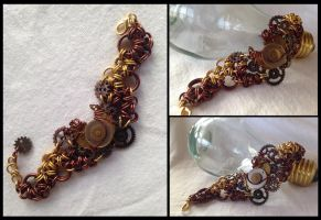 Clock Component Cuff by NikidaEve