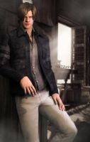 So you missed me,huh?( leon s kennedy) by kingofshadows26