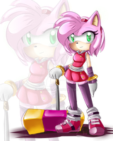 ::..Amy Rose SonicBoom..:: by KynneWolfG
