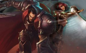 LoL - Darius Fiora splash by ConShinn