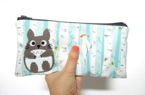 Totoro magical forest pencil case by yael360