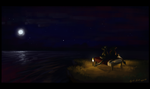 A Minecraft Sort of Night by LeccathuFurvicael