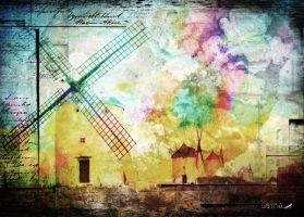 Tje windmill of Don Quixote 2 by Leina1