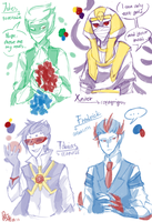Doodles: Pokemon Party Gijinkas by Mossygator