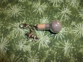 Gray Wolf Spirit Totem Clip Charm Silvertone by DaybreaksDawn