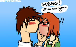 Fluffy's Unexpected Kiss from Xeng [Entry!~] by Mousetachez
