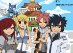 Fairy Tail Strongest Team by delacruzifixion