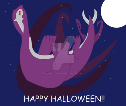 Shadow Lugia Halloween art by Crystalcloud1092