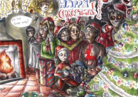 Merry Christmas from the Provolino's Crew 2014 by FuriarossaAndMimma