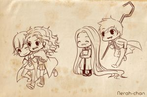 The big 4: Chibi Hogwarts AU by Nerah-chan