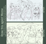 Doodles- After and before Meme by SweetAbril