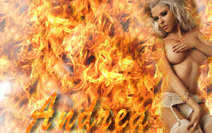 Andrea on fire by jjd