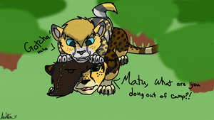 Matu sneaking out of Camp by GypsyCrest19
