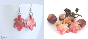 Autumn leaves- polymer clay earrings by Gardi89