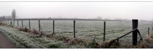 Snowy landscape by goldmines