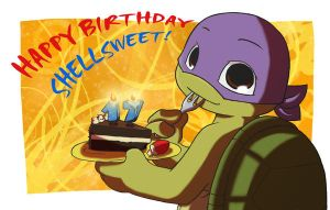 TMNT:Happy birthday Shellsweet by NamiAngel