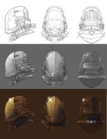 hardsuit helmet progression by hattonslayden