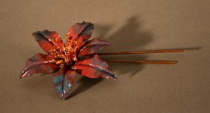 Daylily Hairpin by kenshin1387