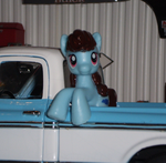 Cheyenne loves her old truck! by TheRockinStallion