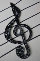 Quilled Treble clef by Jenster1171