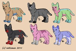 Wolf Pup Adopts by TallyBaby13