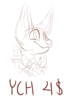 Canine Flower YCH - OPEN by sinnocturnal