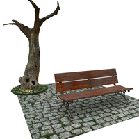 Escena Banco - Bench scene by The-Ronyn