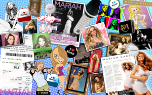 Mariah Carey Pop Art Collage 2 by Jeramiah327
