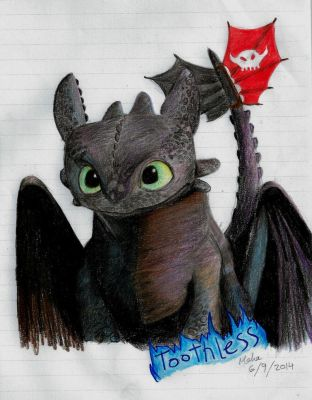 Toothless-How to train your Dragon by xxPandaGirl16xx