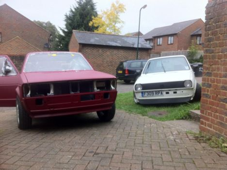 Volkswagen mk1 jetta and mk2 polo vw VDub by wolf1193