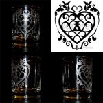 Heart Container Etched Glass Design by Ranefea
